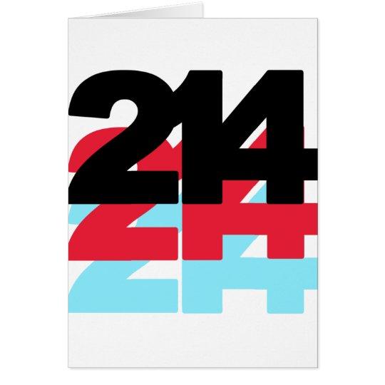 214 Area Code Card