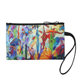 2155 Fish in Our Garden Key Coin Clutch