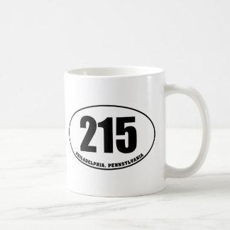 215 Area Code Philadelphia PA Coffee Mug