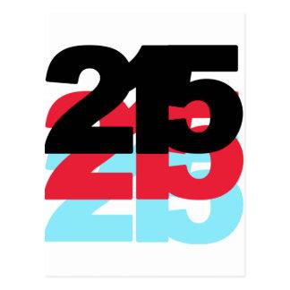 215 Area Code Postcard