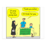 215 Atheist I'll think for you-color cartoon Post Card