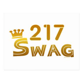 217 Illinois Swag Postcard