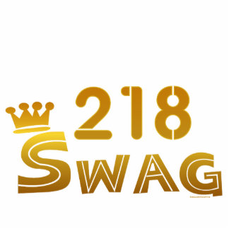 218 Area Code Swag Cutout
