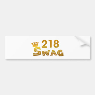 218 Minnesota Swag Bumper Sticker