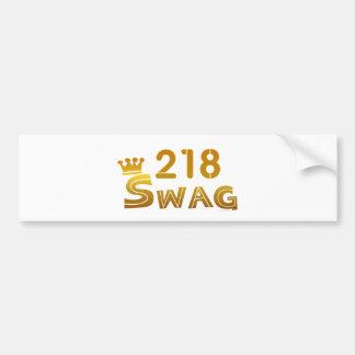 218 Minnesota Swag Car Bumper Sticker