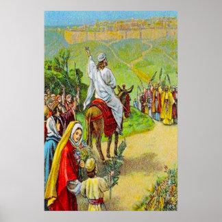 21:1 de Matthew - 11 Jesús se da la bienvenida Póster