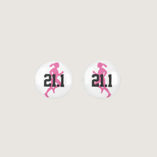 21.1 Half Marathon Girl Customizable Earrings