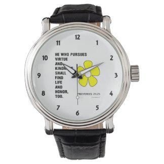 21:21 de los proverbios de la amabilidad relojes de mano