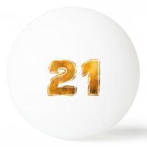21 21st birthday ping pong ball