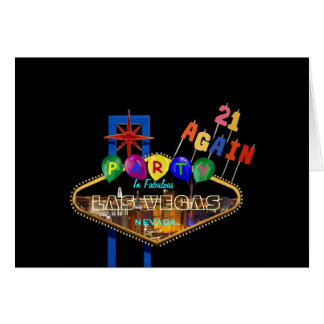 21 AGAIN PARTY IN LAS VEGAS Card