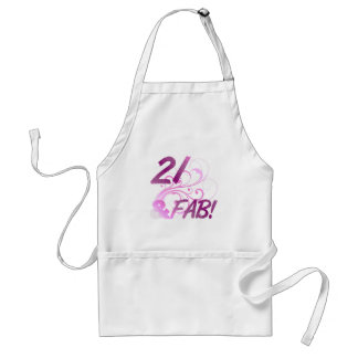 21 And Fabulous Birthday Adult Apron