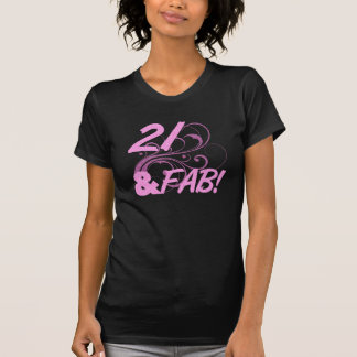 21 And Fabulous Birthday T-Shirt