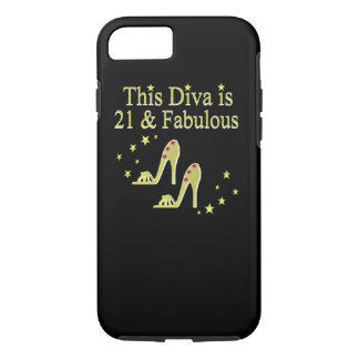 21 AND FABULOUS GOLD SHOE QUEEN DESIGN iPhone 8/7 CASE