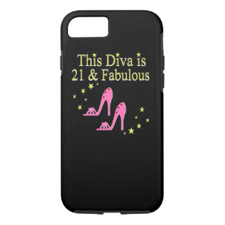 21 AND FABULOUS PINK SHOE QUEEN DESIGN iPhone 7 CASE