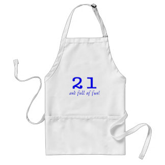 21 And Full Of Fun Blue Aprons