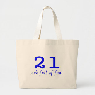 21 And Full Of Fun Blue Canvas Bag