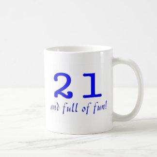 21 And Full Of Fun Blue Coffee Mugs