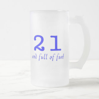 21 And Full Of Fun Blue Mugs