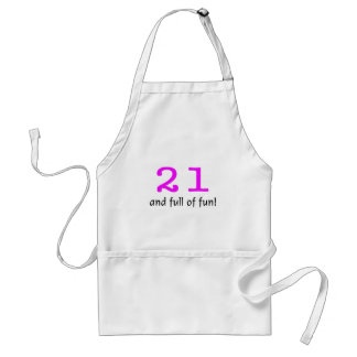 21 And Full Of Fun Pink Black Apron