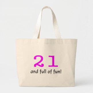 21 And Full Of Fun Pink Black Tote Bags
