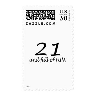 21 And Full Of Fun Postage