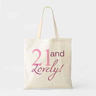 21 and Lovely Birthday Gifts Tote Bag