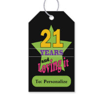 21 and Loving It Gift Tags