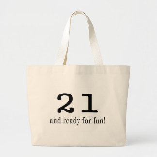 21 And Ready For Fun Black Bag