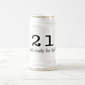 21 And Ready For Fun Black Coffee Mug