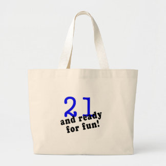 21 And Ready For Fun Blue Bags