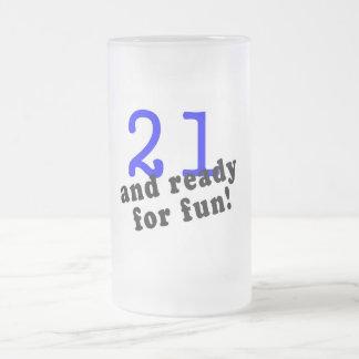 21 And Ready For Fun Blue Coffee Mug