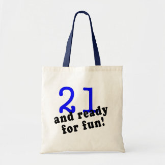 21 And Ready For Fun Blue Tote Bag