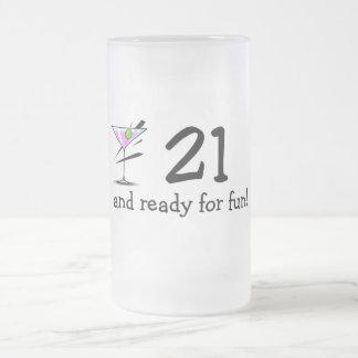 21 And Ready For Fun Martini Coffee Mugs