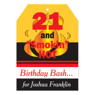 21 and Smokin Hot Birthday Invitation
