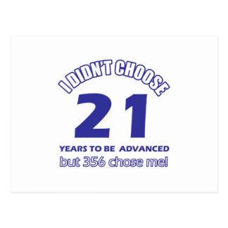 21 años de adelanto postales