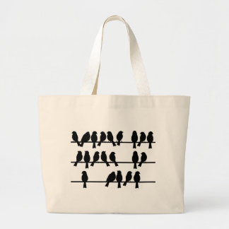 21 Birds On A Wire Canvas Bags