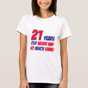 21 Birthday Design T Shirt