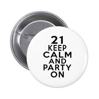 21 birthday designs button