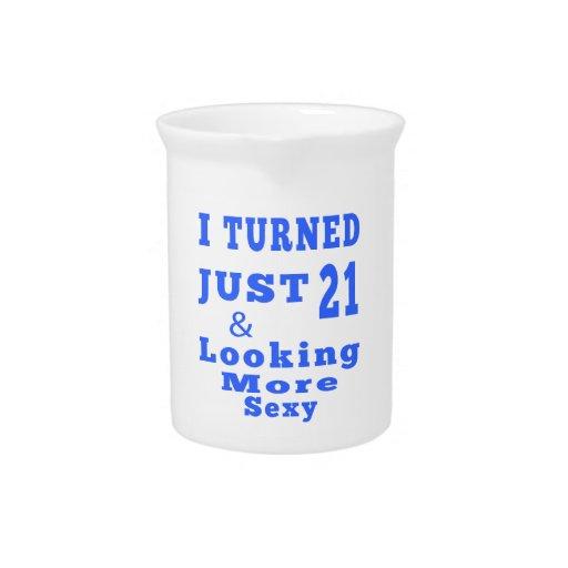 21 birthday designs drink pitchers
