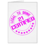 21 Birthday Item Certified Now 21-pink Cards