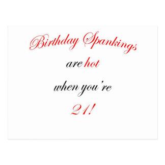 21  Birthday spankings are hot! Postcard