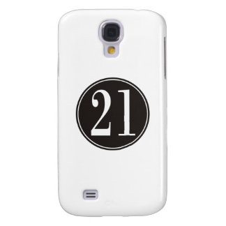 #21 Black Circle (front) Samsung S4 Case