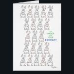 "21-BUN SALUTE Boynton Card<br><div class=""desc"">Twenty-one fine rabbits bring a zesty birthday wish. A Boynton Classic returns with gusto.</div>"