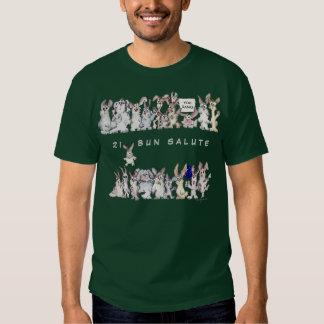 21 Bun Salute Funny Cartoon Rabbits Honor Tee Shirts
