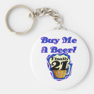 21 Buy Me a Beer Birthday Tshirts and Gifts Basic Round Button Keychain