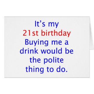 21 buy me a drink card