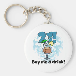 21 Buy Me a Drink T-shirts and Gifts Basic Round Button Keychain