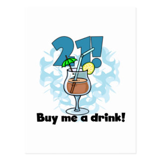 21 Buy Me a Drink T-shirts and Gifts Postcard