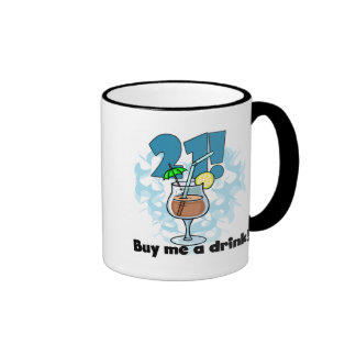 21 Buy Me a Drink T-shirts and Gifts Ringer Coffee Mug