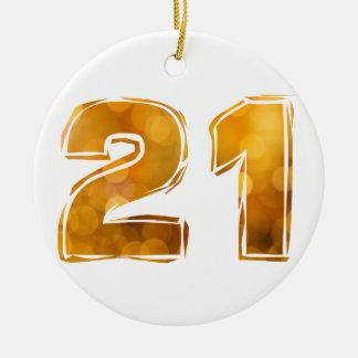 21 CERAMIC ORNAMENT